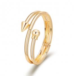 New Fashion Minimalist Multilayer Popular Bracelet Arrow Glossy Gold Plated Bracelet Personalized Bracelet