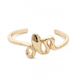 European and American cross-border jewelry, retro curved niche original jewelry women, three-dimensional personality snake-shaped geometric open bracelet