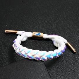 Little Lion Bracelet Douyin Same Student Couple Knitting Jewelry Laser Symphony Lace Bracelet