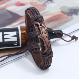 The new woven leather bracelet