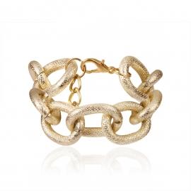 European and American cross-border jewelry, personality punk geometric irregular jewelry women, exaggerated hemp surface cross chain bracelet