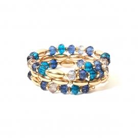European and American cross-border jewelry, temperament, ethnic style, generous beaded jewelry women, simple and adjustable wild geometric bracelet
