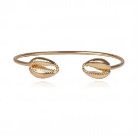 European and American cross-border jewelry Fashion scallop ocean element jewelry female personality shell geometric mirror simple bracelet