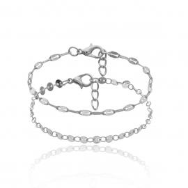 European and American cross-border jewelry wild niche chain sequin chain bracelet women simple geometric disc two-piece bracelet