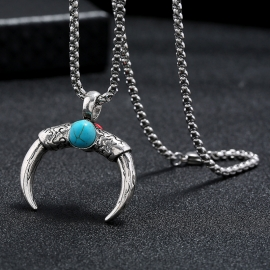 Simple trendy personality pendant accessories retro sweater pendant necklace male