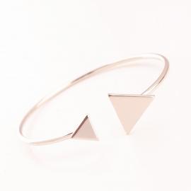 European and American jewelry retro fashion geometric triangle metal open bracelet