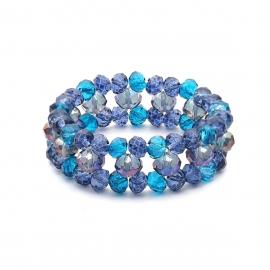 European and American cross-border jewelry temperament indifferent beaded jewelry women simple retro crystal geometric creative wild bracelet
