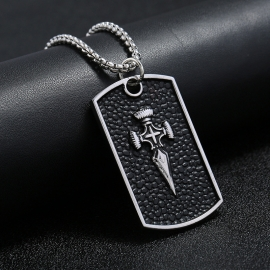 Simple personality pendant alloy titanium steel chain mens necklace