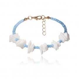 European and American cross-border jewelry, personalized geometric irregular jewelry women, wild creative color rice beads broken shell bracelet
