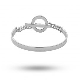 European and American cross-border jewelry, simple geometric wild punk jewelry female, retro heavy metal C-shaped bracelet